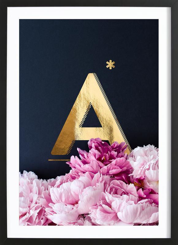 Flower Alphabet A Framed Print