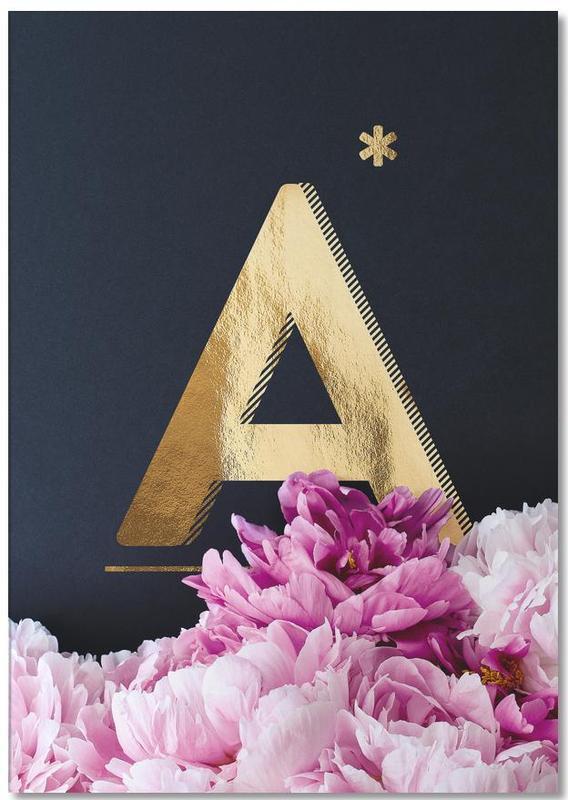 Flower Alphabet A bloc-notes