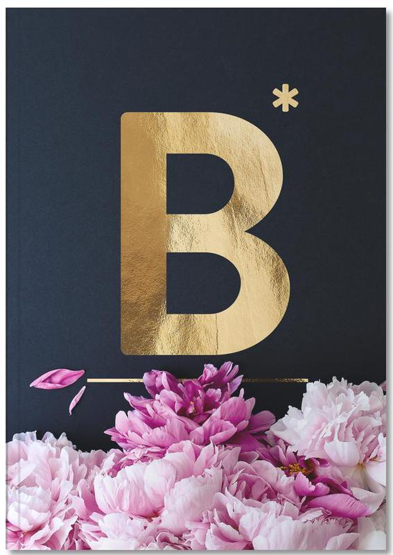 Flower Alphabet B Notebook
