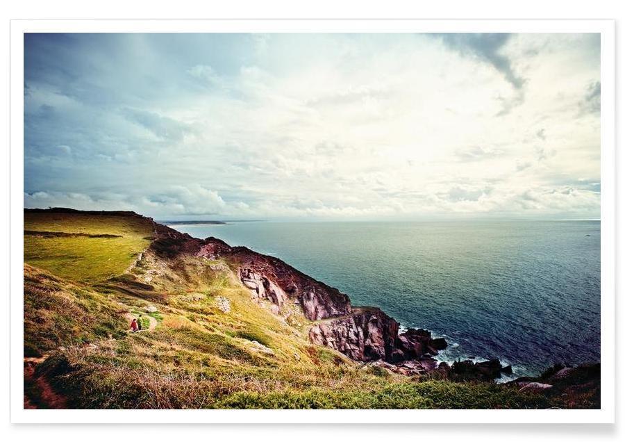 Oceanen, zeeën en meren, Normandie poster