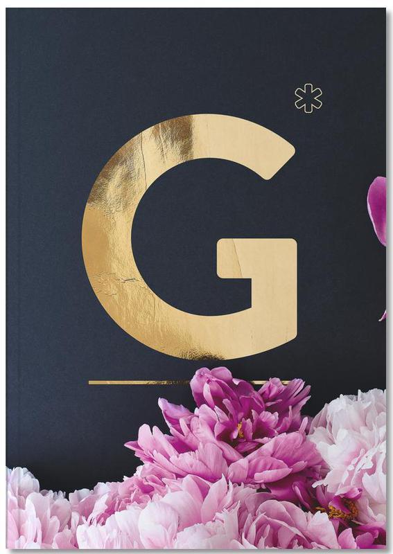 Alphabet & Letters, Flower Alphabet G Notebook