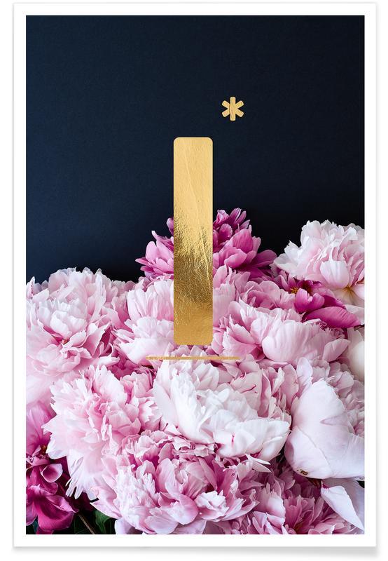 Flower Alphabet I Poster