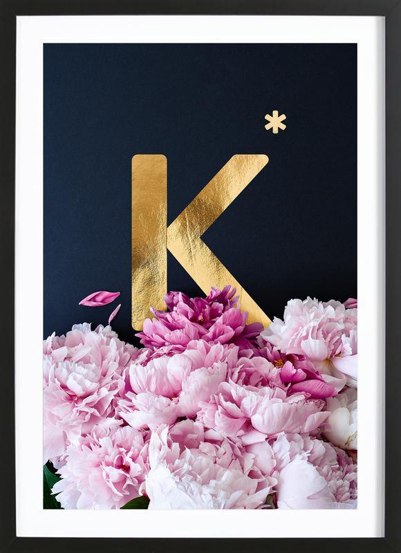Flower Alphabet K Framed Print