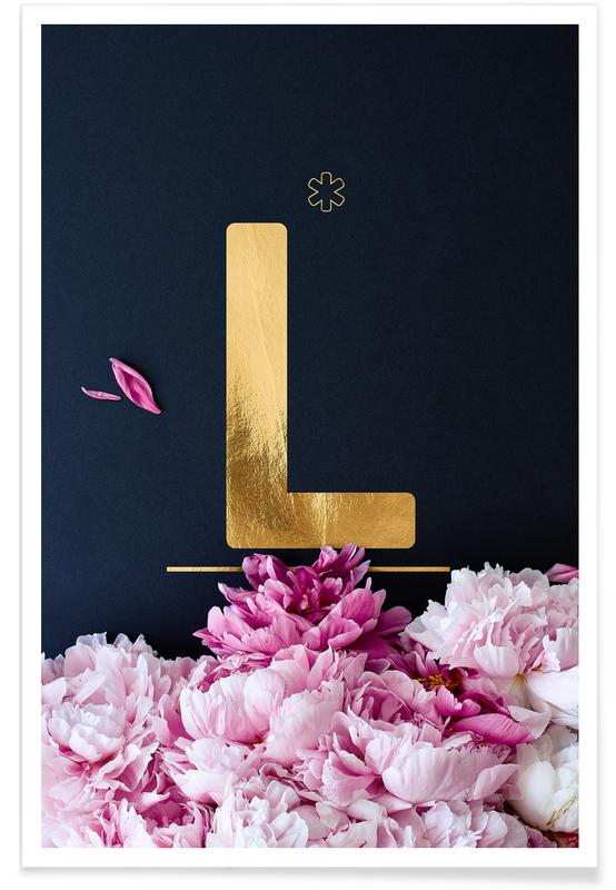 Flower Alphabet L -Poster