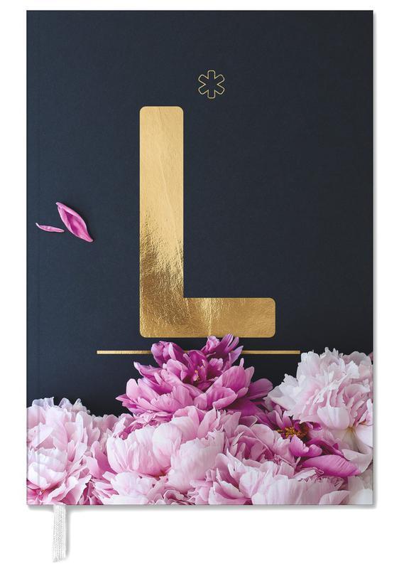 Flower Alphabet L Personal Planner