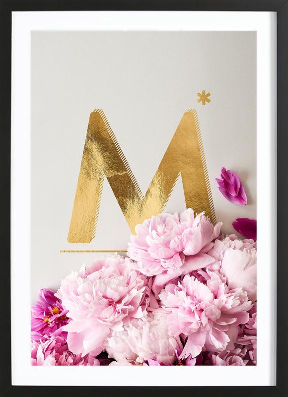 Flower Alphabet M Framed Print