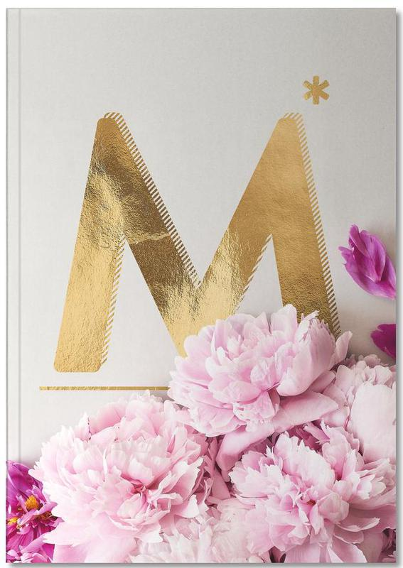 Flower Alphabet M Notebook