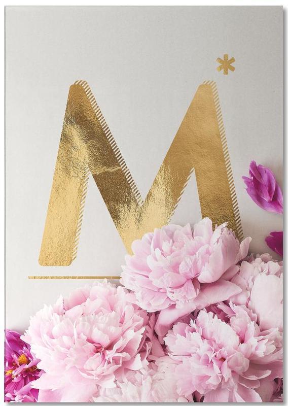 Flower Alphabet M -Notizblock