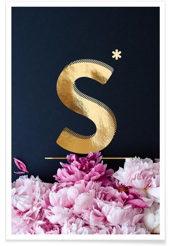 Flower Alphabet S Poster