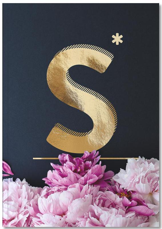 Flower Alphabet S Notebook