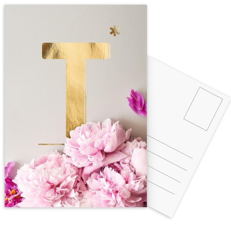 Flower Alphabet T -Postkartenset
