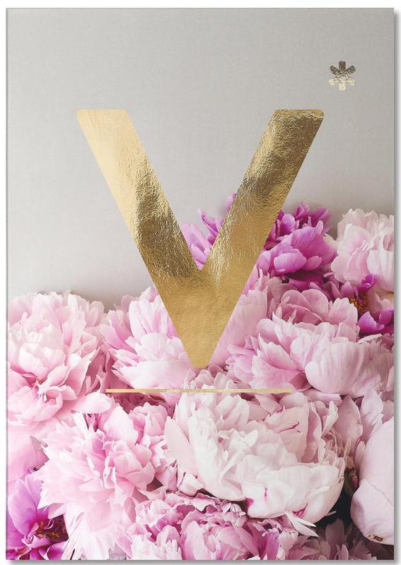 Flower Alphabet V -Notizblock