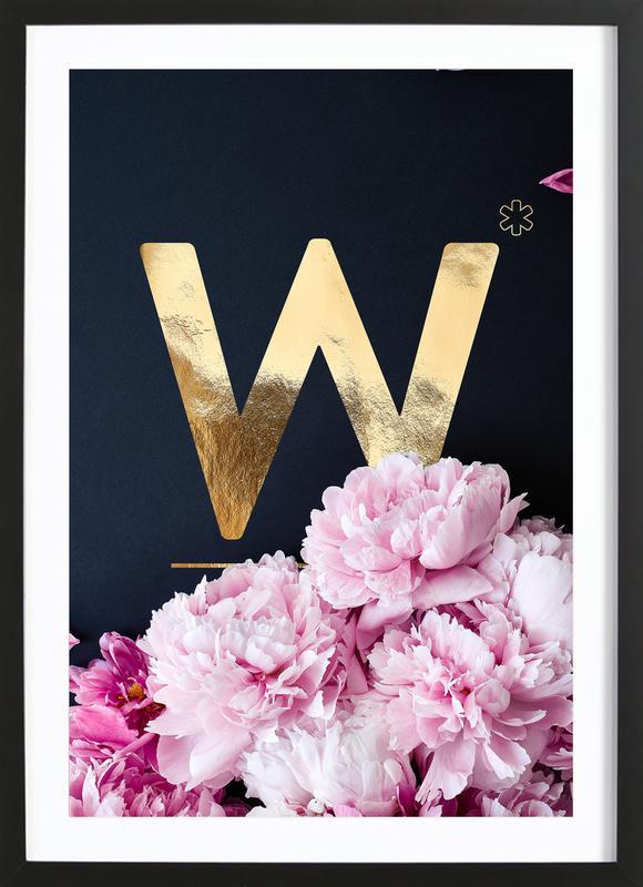 Flower Alphabet W Framed Print