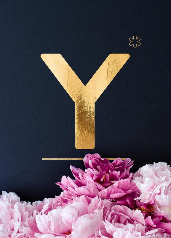 Flower Alphabet Y Canvas Print