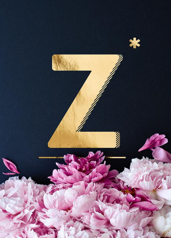Flower Alphabet Z toile