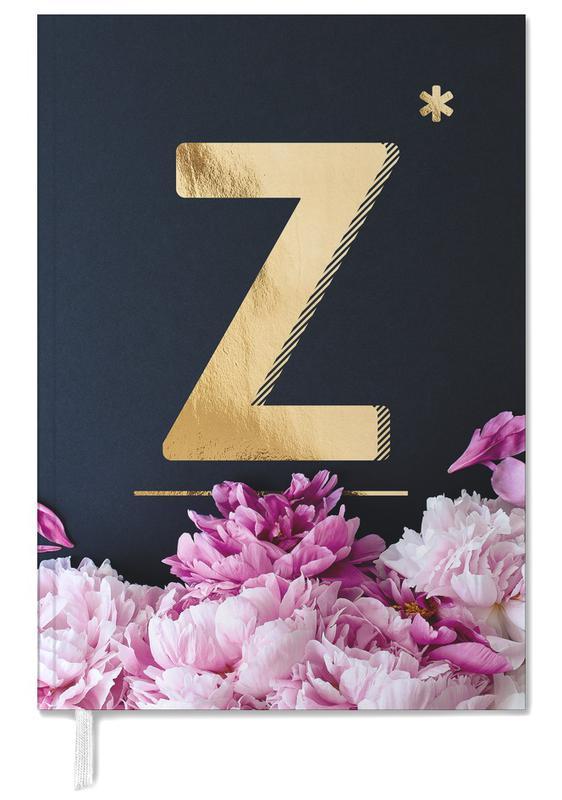 Alphabet & Letters, Flower Alphabet Z Personal Planner