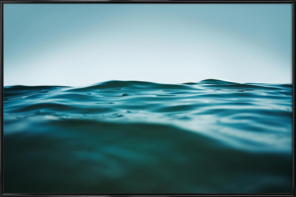 , Blau wie das Meer -Bild mit Kunststoffrahmen