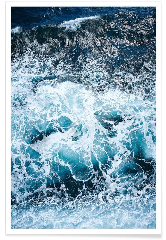 Blautöne des Meeres I Poster