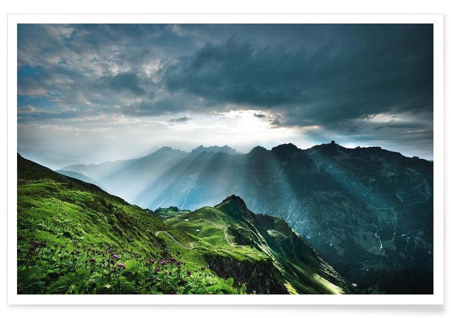 Montagnes, Schöne Aussichten II affiche