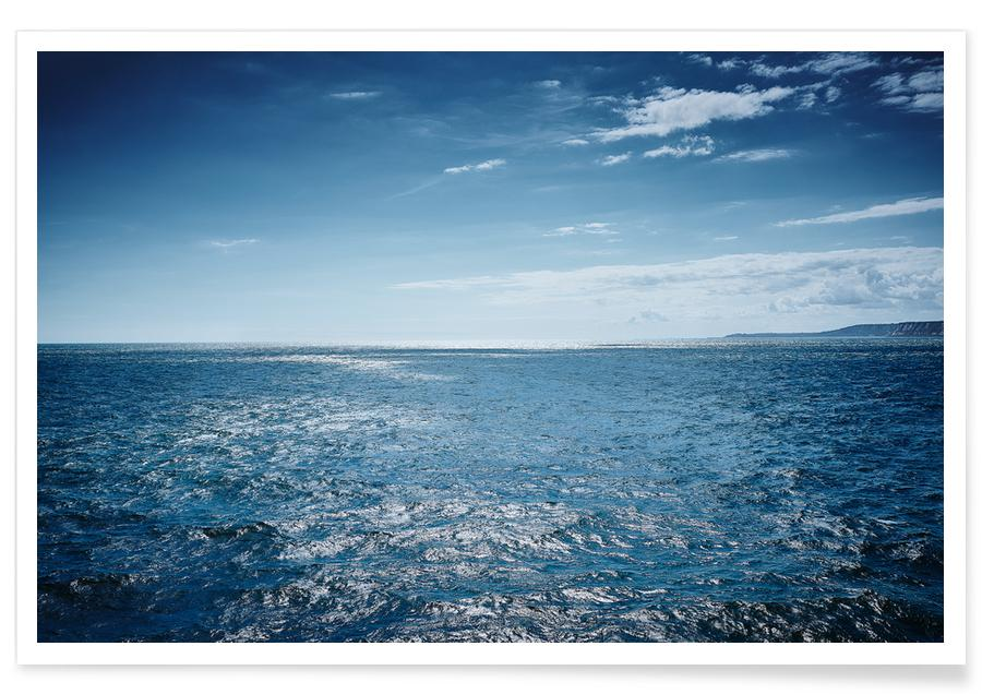 Oceanen, zeeën en meren, Himmel über dem Meer poster