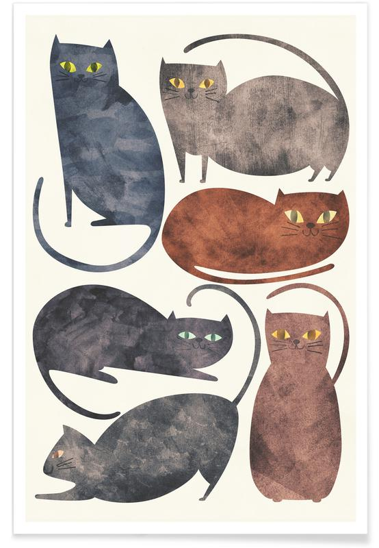 Katzen, Cats -Poster