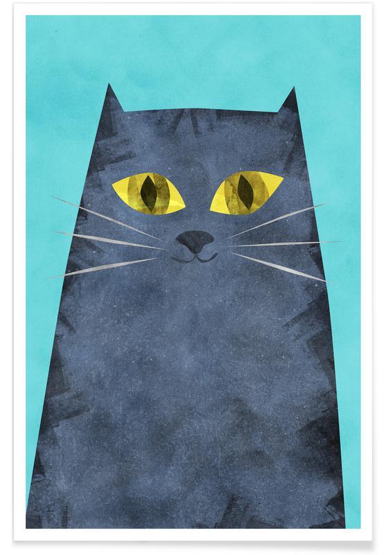 Chats, Art pour enfants, Tabby affiche