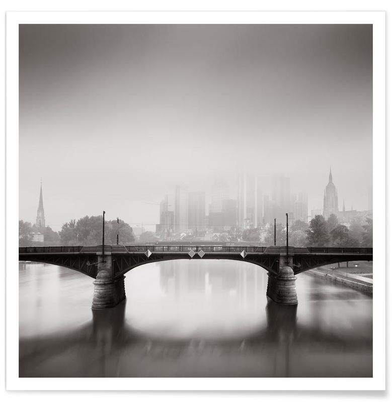 Noir & blanc, Ponts, Financial fog affiche