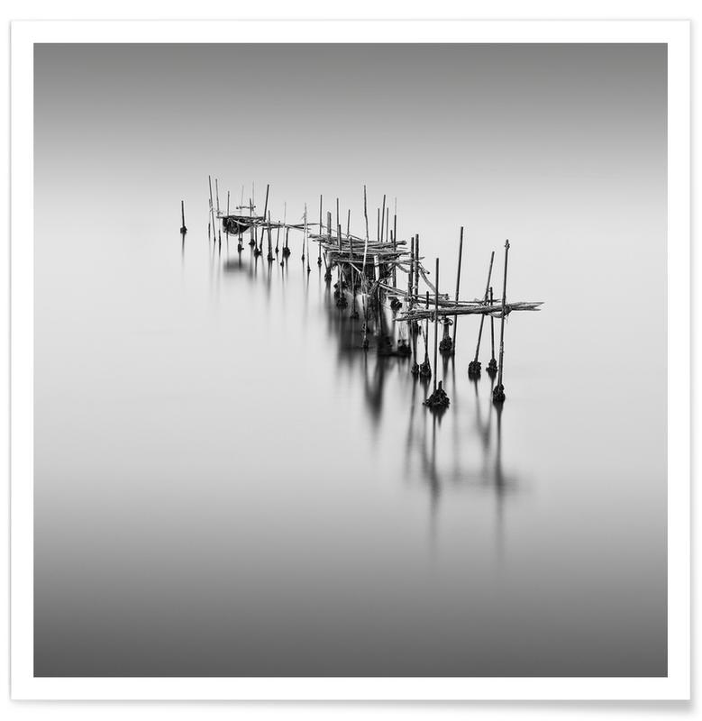 Venice, Black & White, Travel, Venedig - Forgotten Poster
