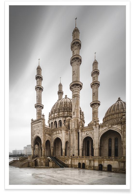 Sights & Landmarks, Travel, Baku - Heydər Məscidi - Study 2 Poster
