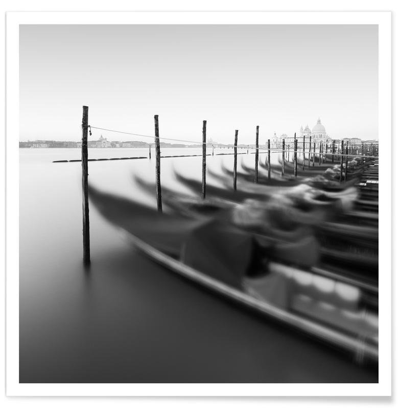 Black & White, Boats, Venedig - Gondola Study 10 Poster