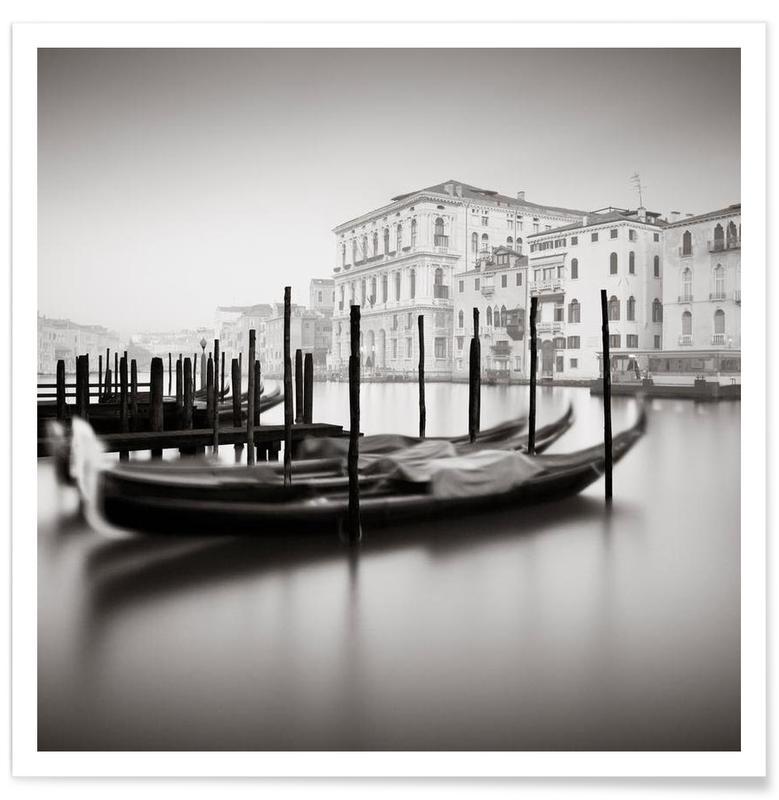 Venise, Noir & blanc, Canal Grande - Study 9 affiche