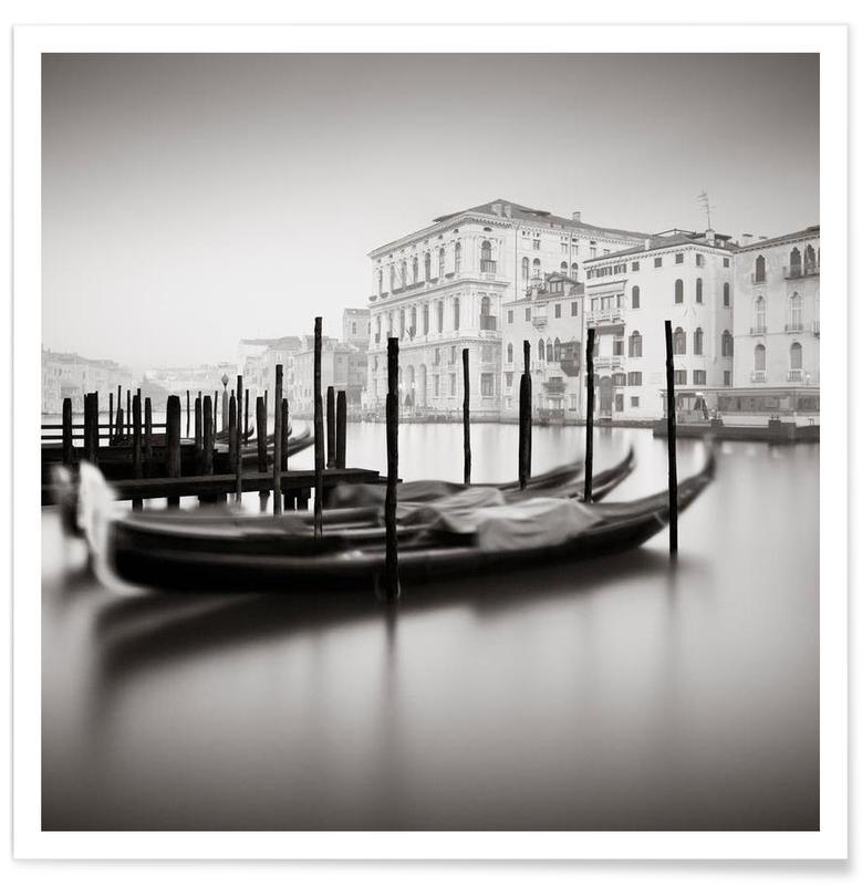 Venice, Black & White, Canal Grande - Study 9 Poster