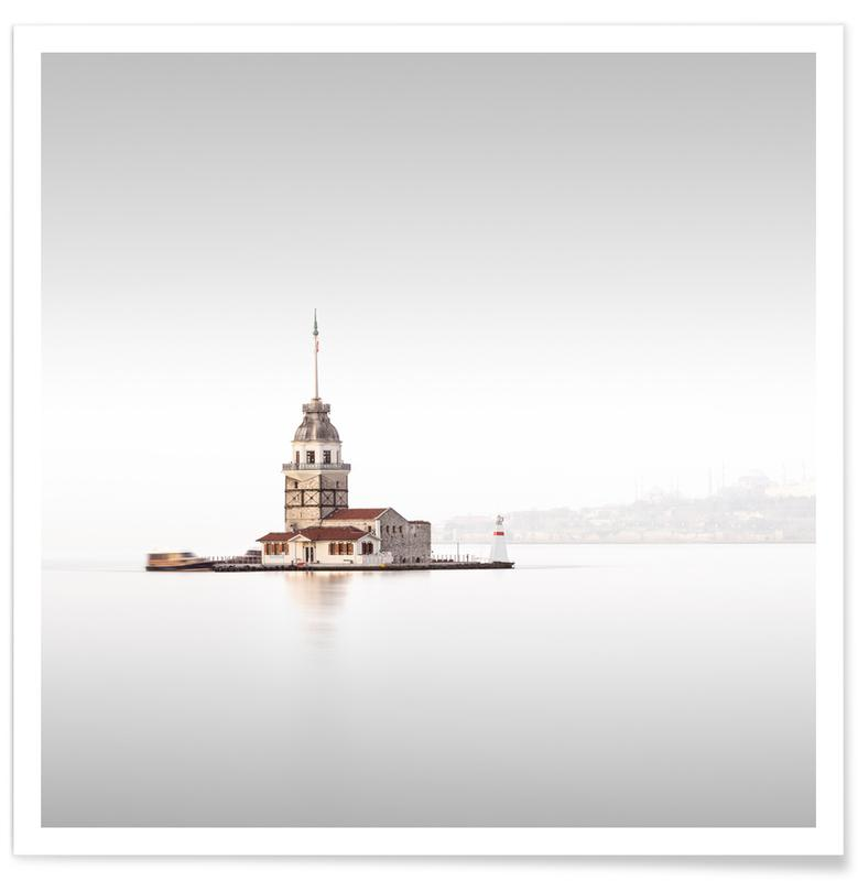 Ocean, Lake & Seascape, Istanbul, Sights & Landmarks, Istanbul - Kiz Kulesi Poster