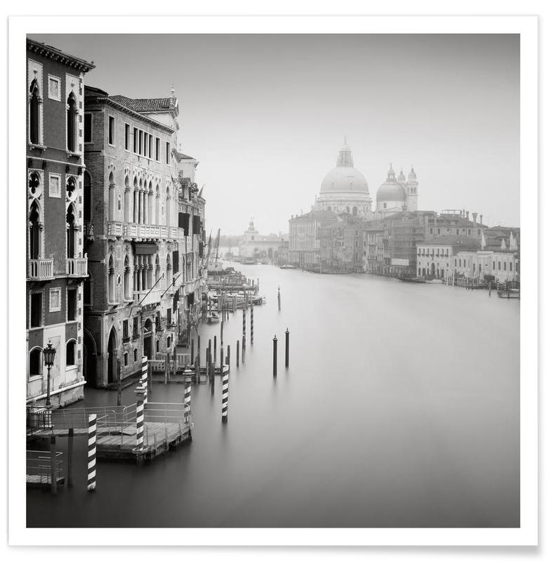 Black & White, Venice, Sights & Landmarks, Santa Maria della Salute Poster