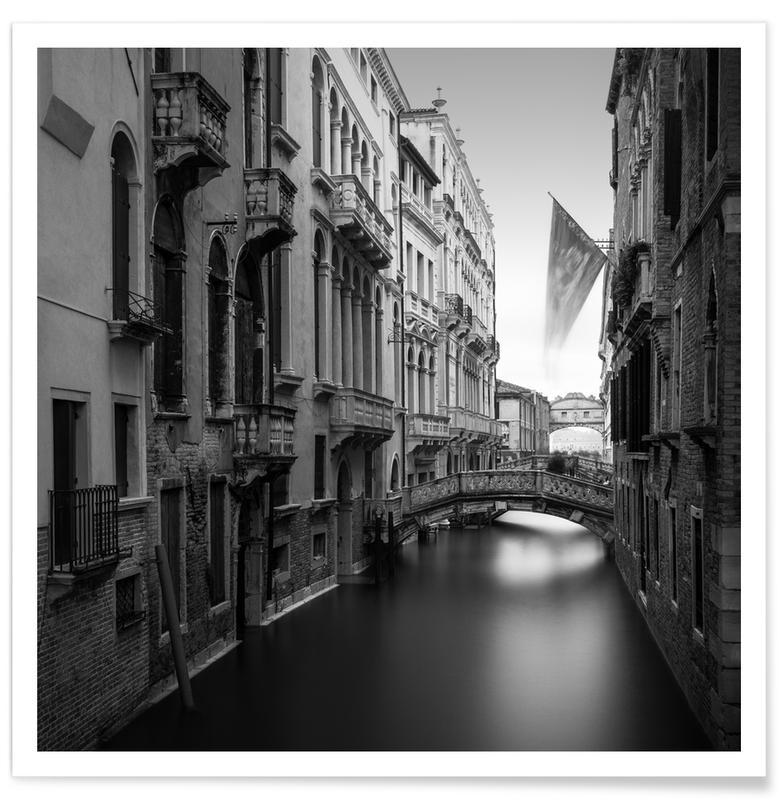 Noir & blanc, Rio Di Palazzo - Venedig affiche