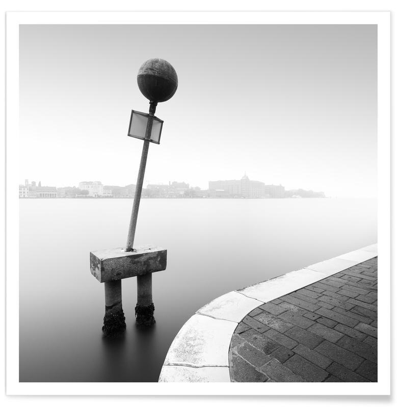 Zwart en wit, Direzione - Venedig poster