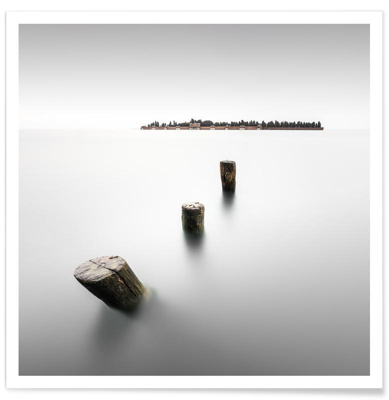 Black & White, Isola Di San Michele - Venedig Poster