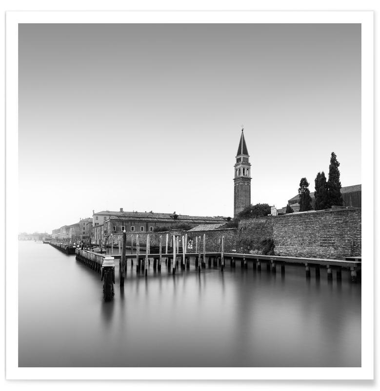 Zwart en wit, Chiesa Di San Francesco Della Vigna - Venedig poster