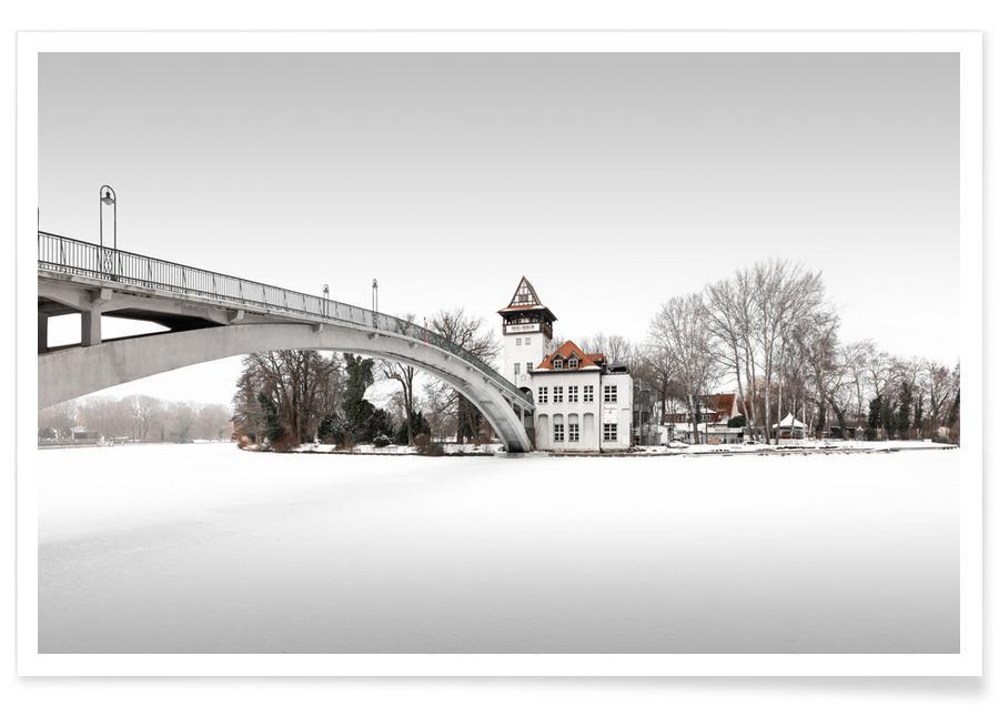 Abstracte landschappen, Zwart en wit, Architectonische details, Reizen, Frozen Island | Berlin 2021 poster