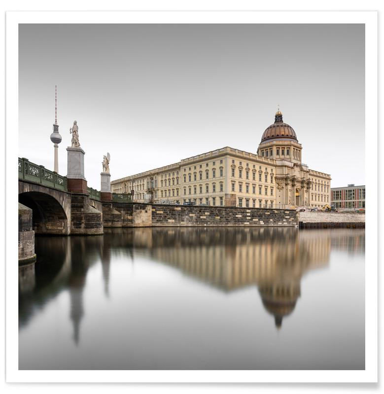 Reise, Architekturdetails, Abstrakte Landschaften, Berlin Palace Ii | Berlin 2020 -Poster