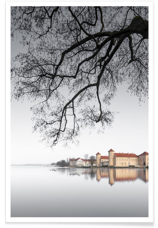Paysages abstraits, Voyages, Noir & blanc, Détails architecturaux, Schloss Rheinsberg | Rheinsberg 2021 affiche