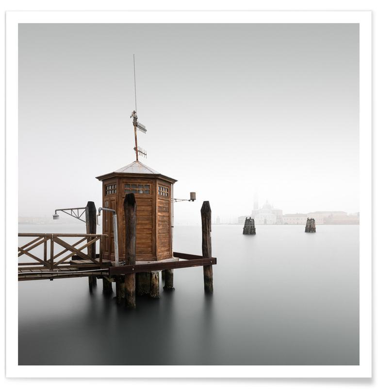 Paysages abstraits, Voyages, Noir & blanc, Détails architecturaux, Casa Di Misura   Venedig 2019 affiche