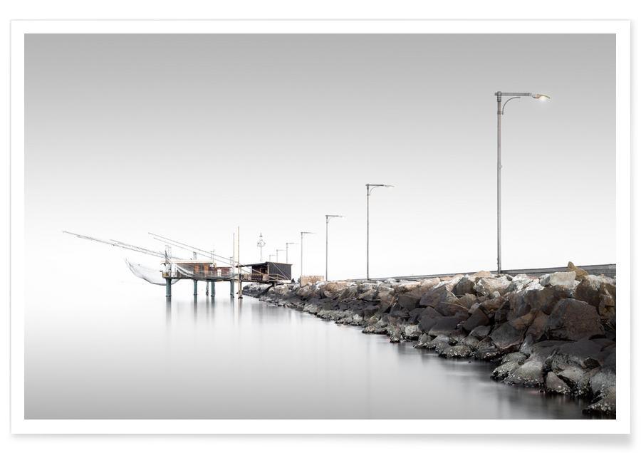 Abstracte landschappen, Zwart en wit, Architectonische details, Reizen, Porto Garibaldi | Ferrara 2015 poster