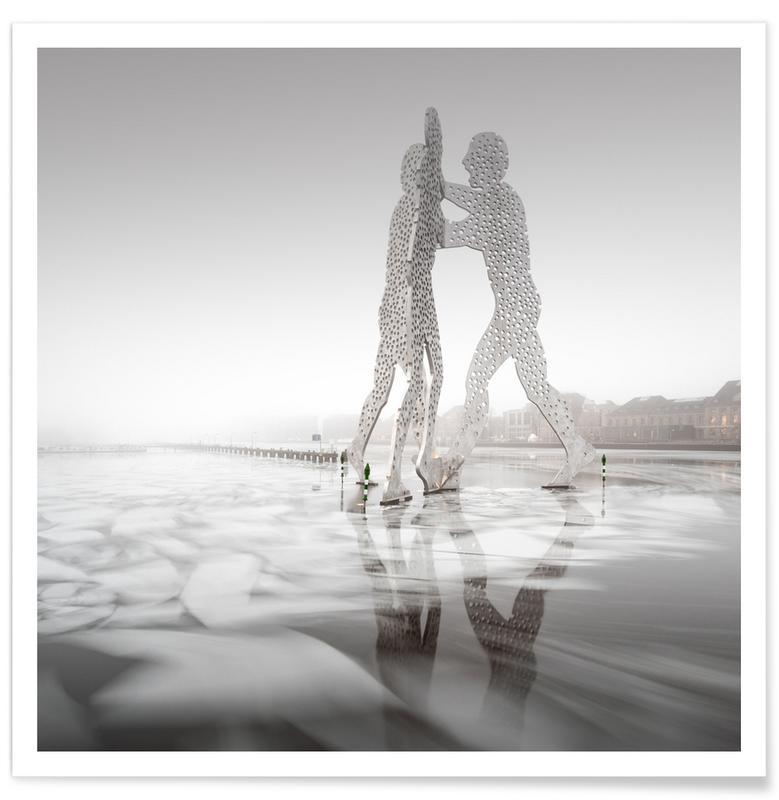 Paysages abstraits, Voyages, Noir & blanc, Détails architecturaux, Molecule Men On Ice   Berlin 2016 affiche