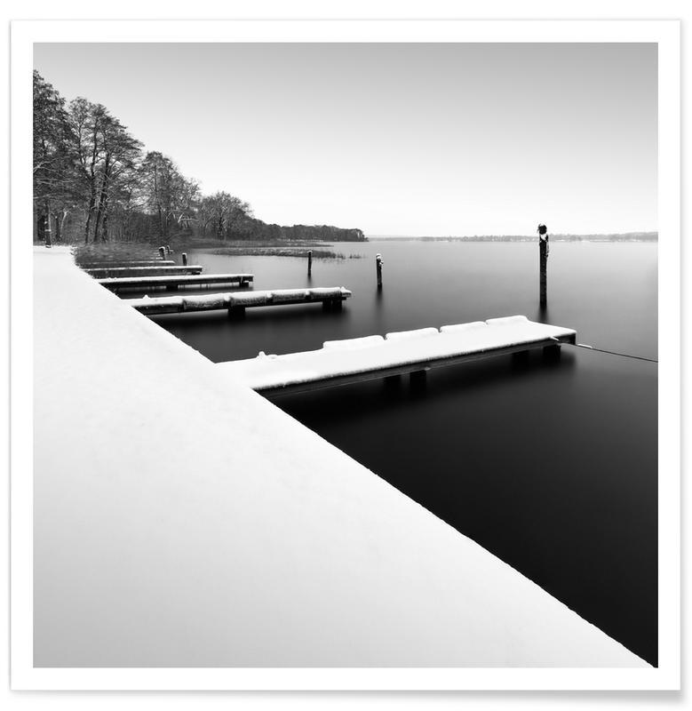Paysages abstraits, Voyages, Noir & blanc, Détails architecturaux, Eternal Bliss | Scharmützelsee 2021 affiche