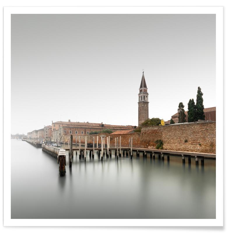 Paysages abstraits, Voyages, Noir & blanc, Détails architecturaux, Chiesa Di San Francesco Della Vigna (color) | Venedig 2020 affiche