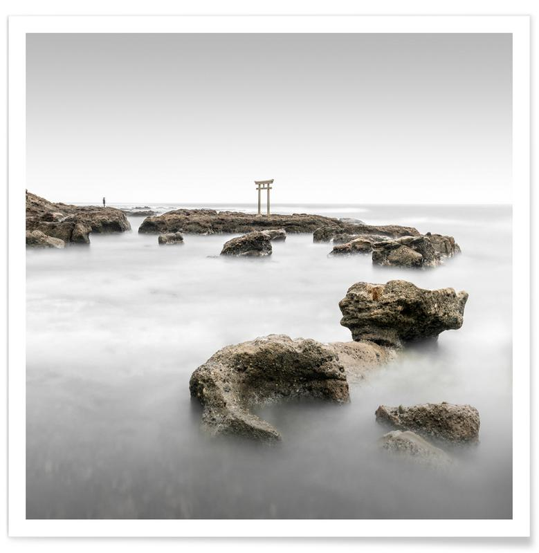 Architectural Details, Abstract Landscapes, Black & White, Travel, Oarai | Japan 2019 Poster