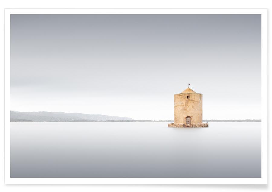 Abstracte landschappen, Zwart en wit, Reizen, Mulino   Orbetello 2019 poster