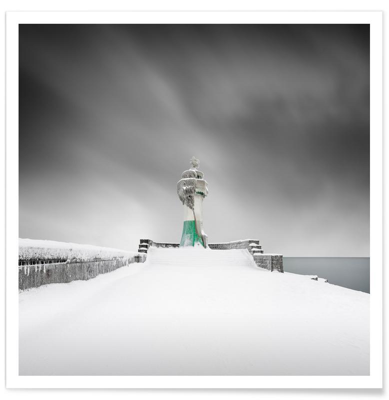 Abstracte landschappen, Zwart en wit, Architectonische details, Reizen, Frozen Guard | Sassnitz 2021 poster