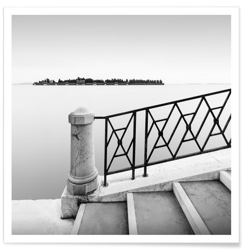 Paysages abstraits, Voyages, Noir & blanc, Détails architecturaux, Cimitero Di San Michele | Venedig 2020 affiche